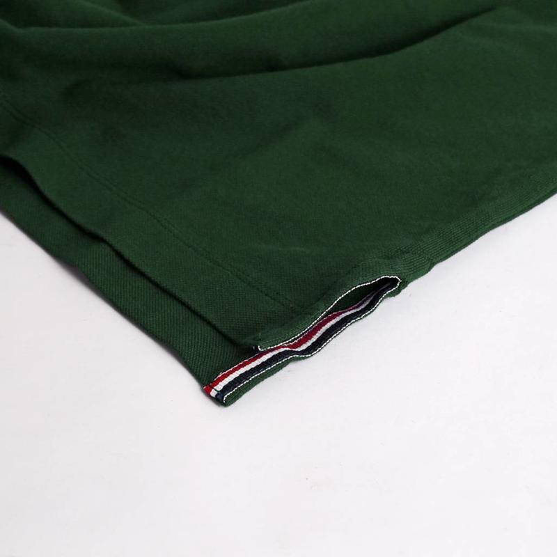 Q1905 Heren Polo Bloemendaal Dk Green - Orange / Dk Green