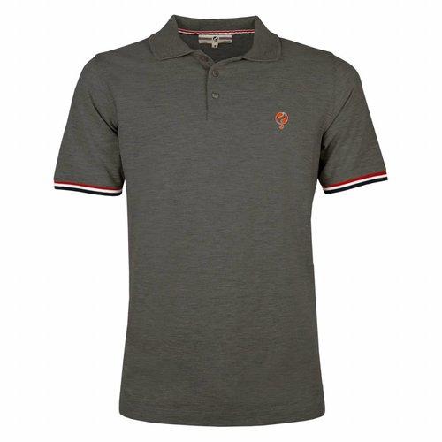 Men's Polo Shirt Bloemendaal Dk Grey Melee - Orange / Silver