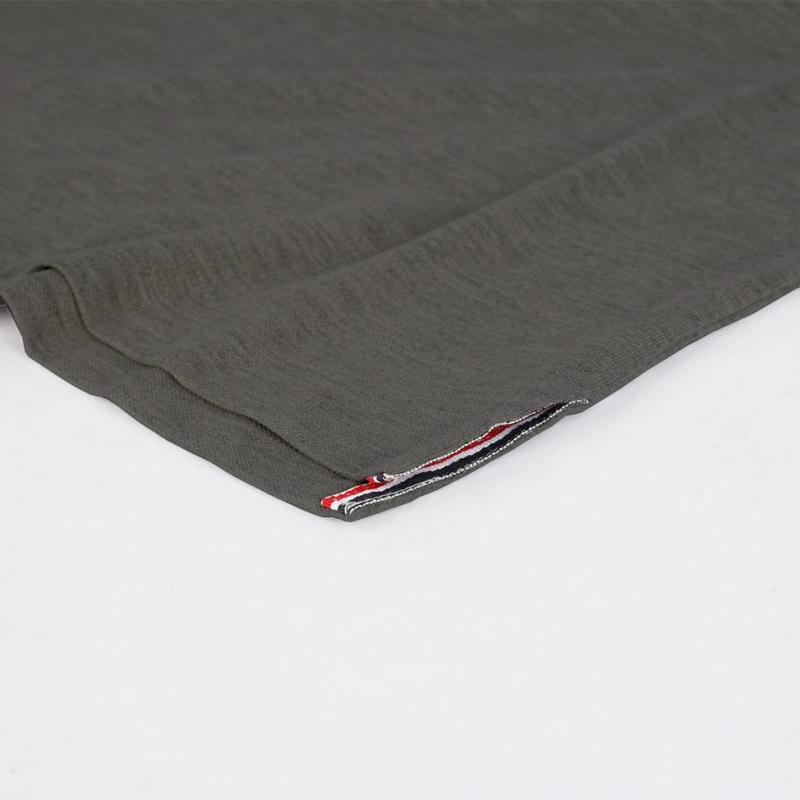 Q1905 Men's Polo Shirt Bloemendaal Dk Grey Melee - Orange / Silver