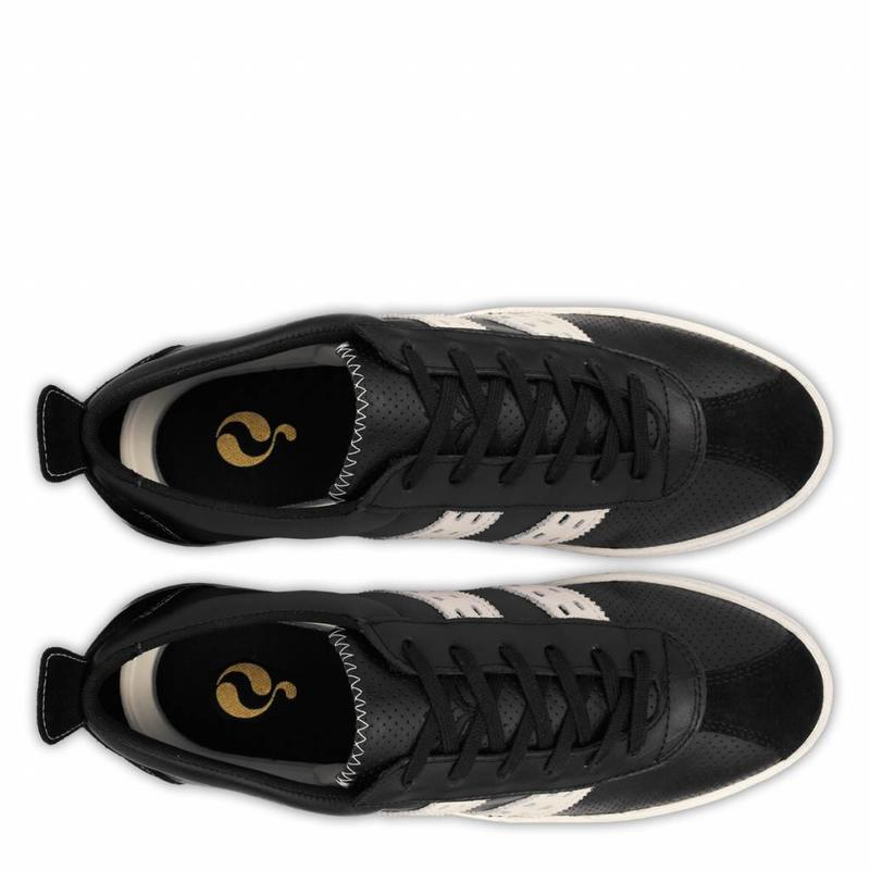 Heren Sneaker Medal Black / Cloud Dancer