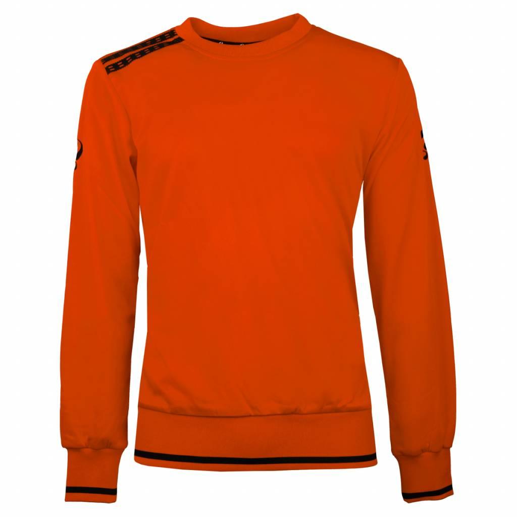 Q1905 Heren Sweater Kruys Oranje / Zwart
