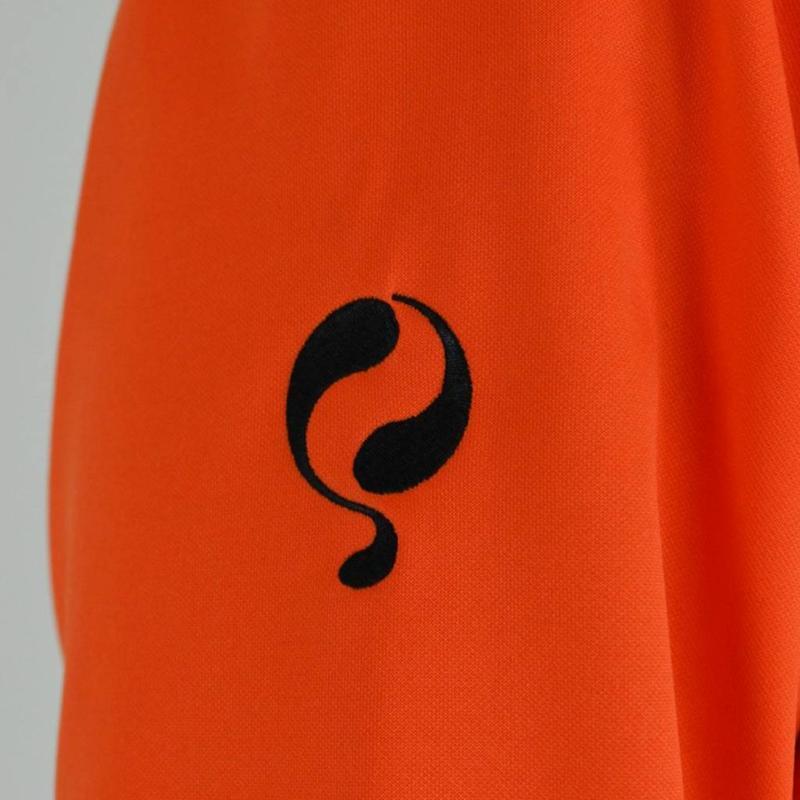 Heren Sweater Kruys Oranje / Zwart