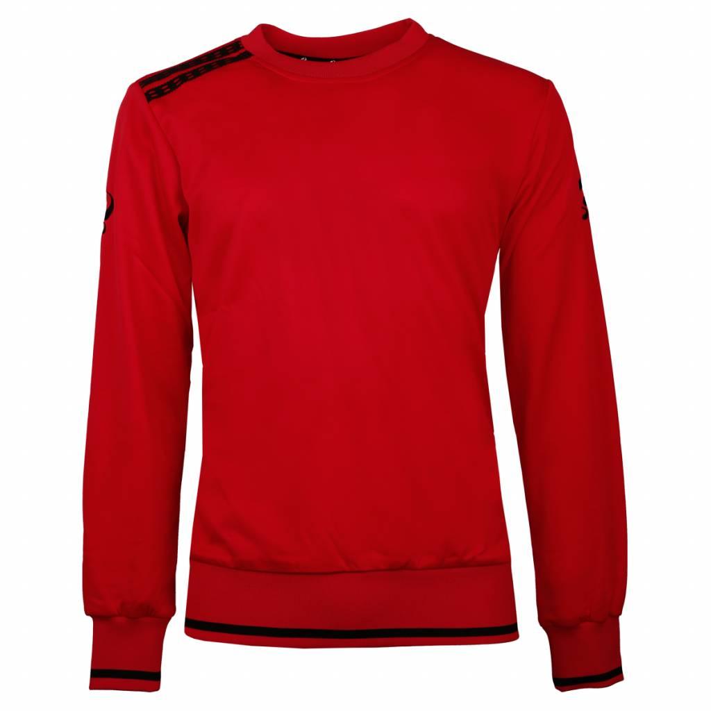 Q1905 Heren Sweater Kruys Rood / Zwart