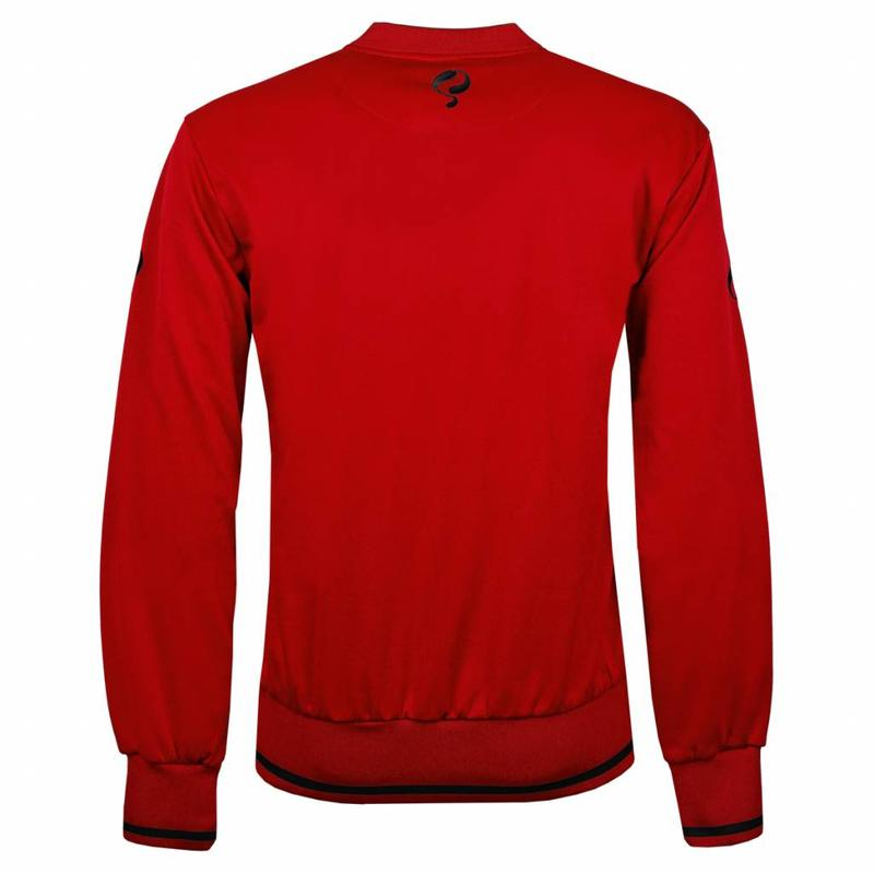 Q1905 Heren Sweater Kruys Rood / Zwart