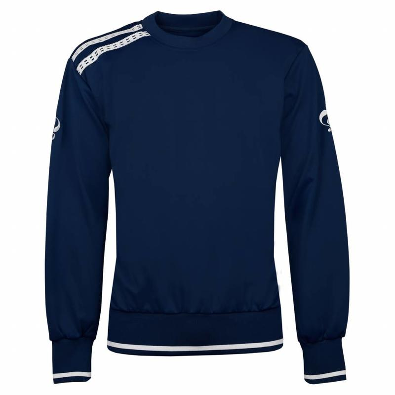 Q1905 Heren Sweater Kruys Navy / Wit
