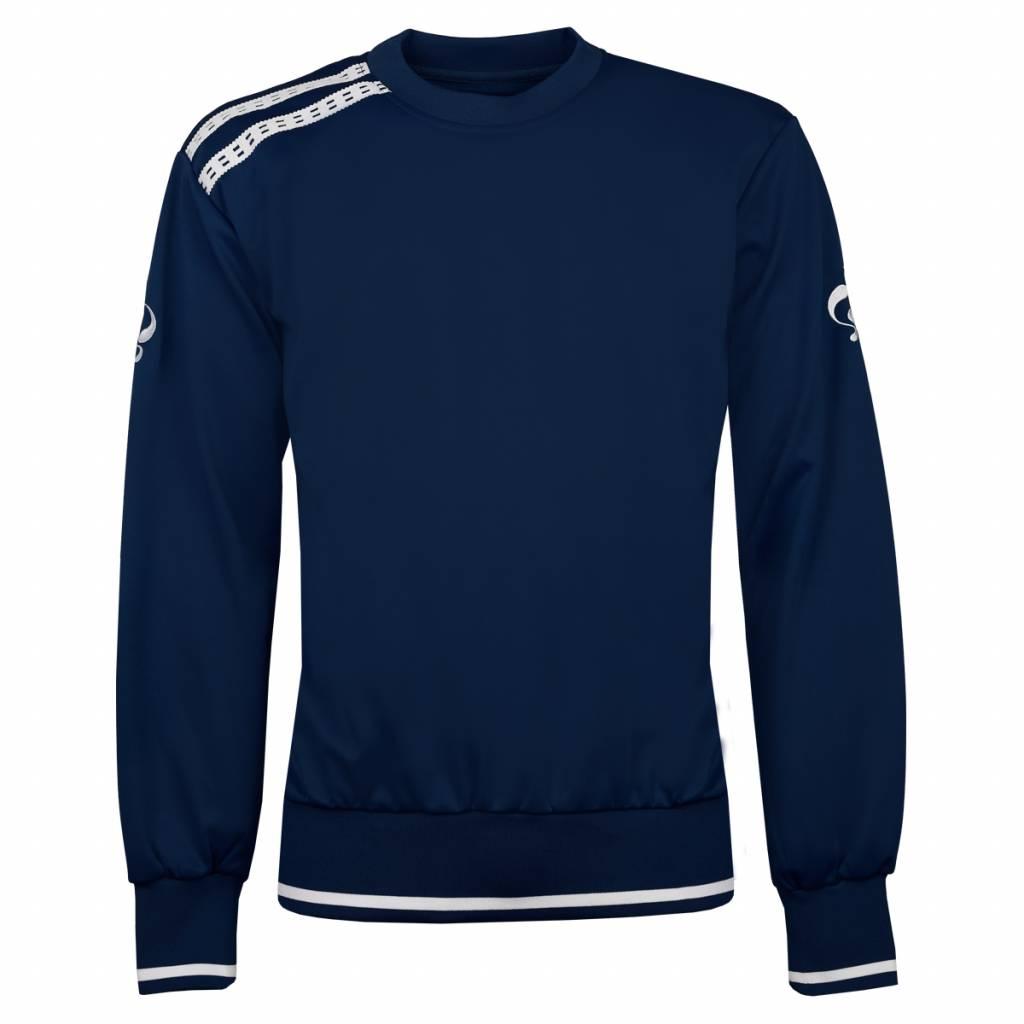 Q1905 Heren Sweater Kruys Navy / Wit