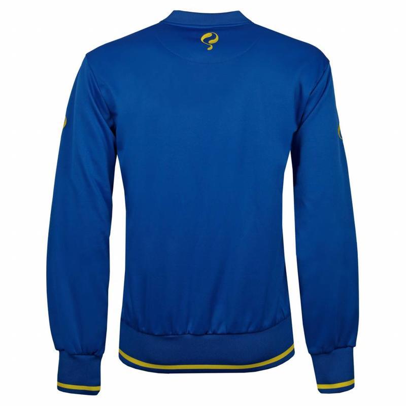 Heren Sweater Kruys Blauw / Geel