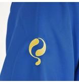 Q1905 Heren Sweater Kruys Blauw / Geel