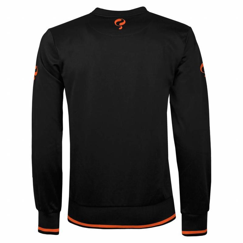 Heren Sweater Kruys Zwart / Oranje