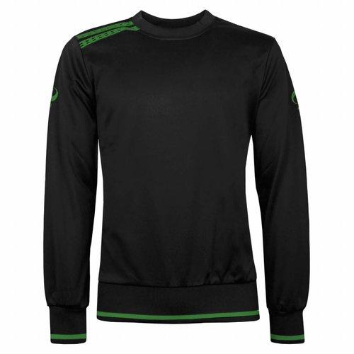 Heren Sweater Kruys Zwart / Groen
