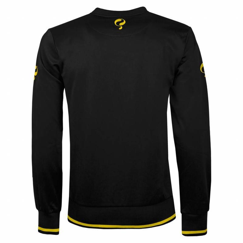 Heren Sweater Kruys Zwart / Geel