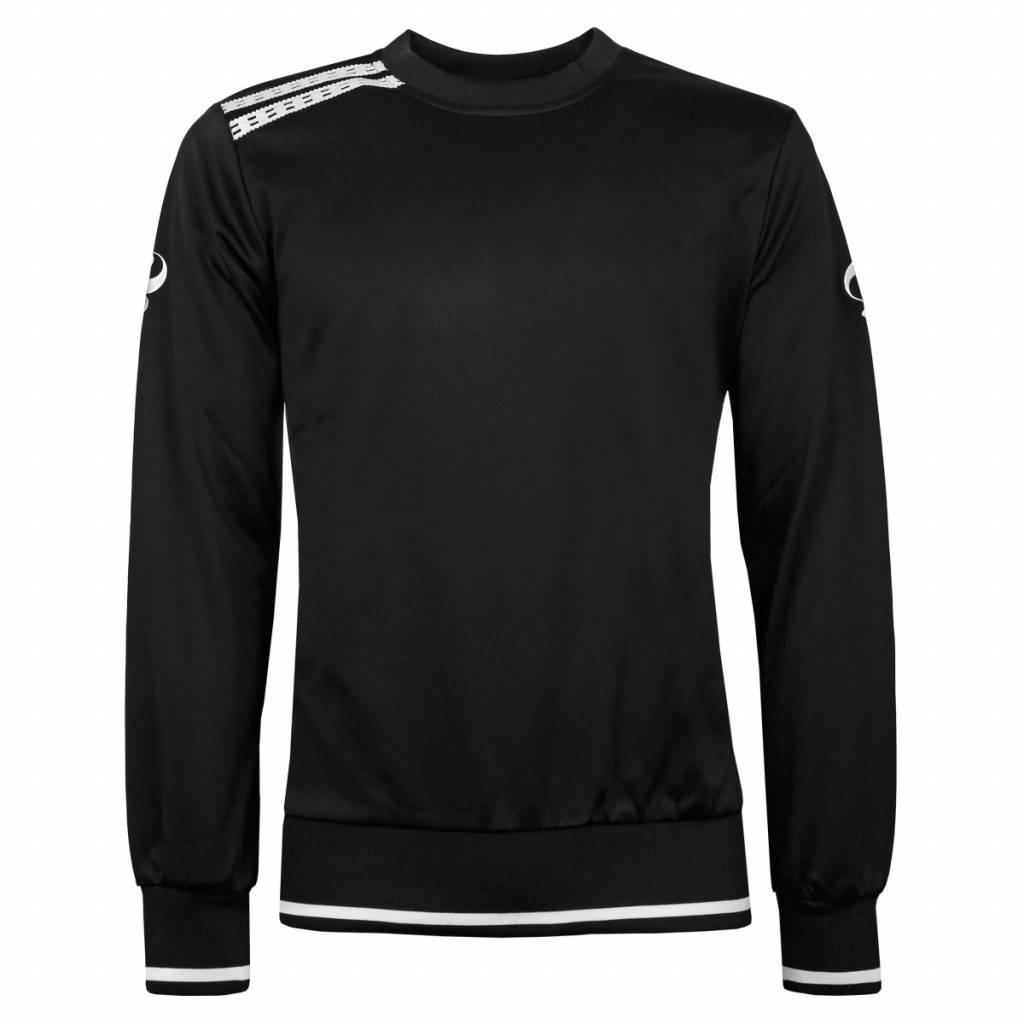 Q1905 Heren Sweater Kruys Zwart / Wit