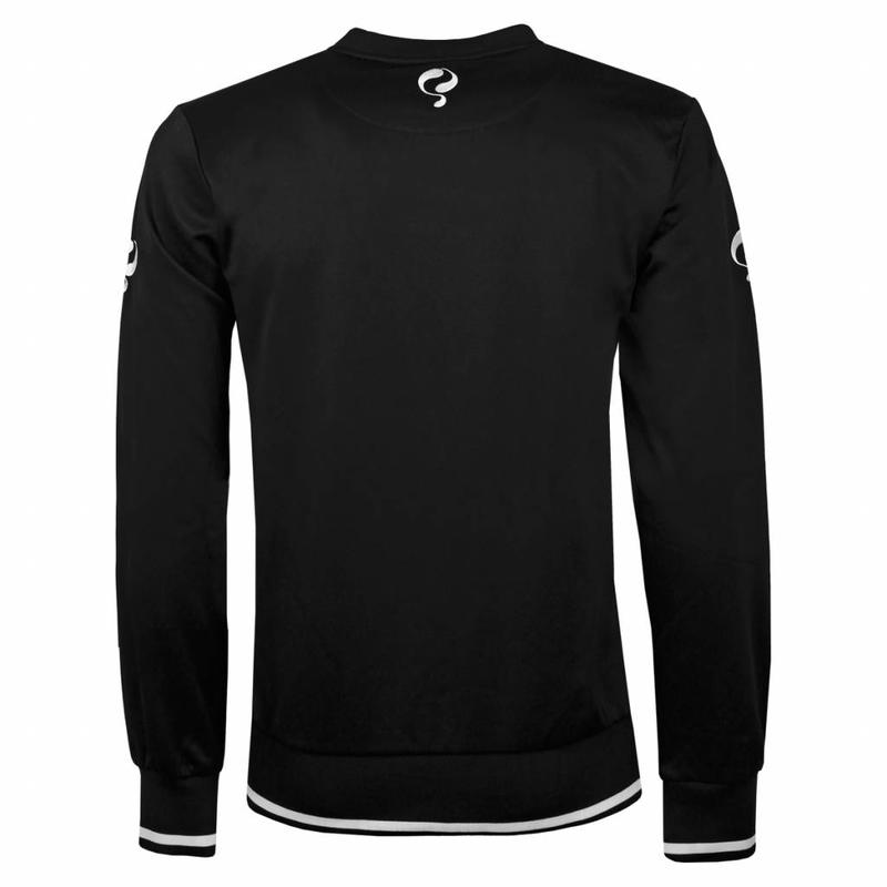 Heren Sweater Kruys Zwart / Wit
