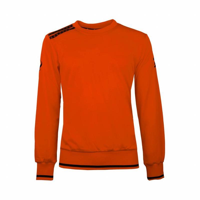 Q1905 Kids Sweater Kruys Oranje / Zwart