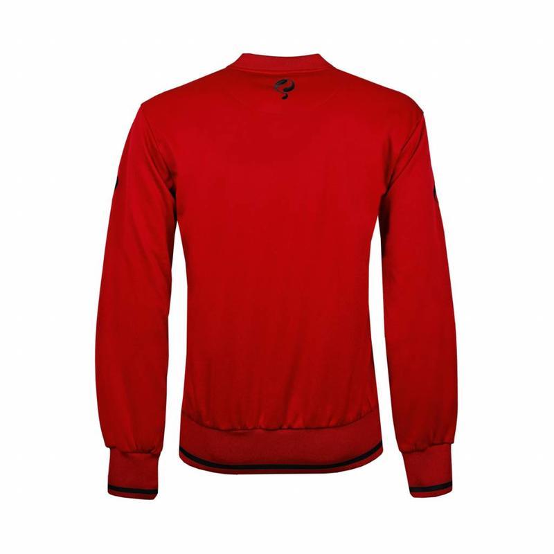 Q1905 Kids Sweater Kruys Rood / Zwart