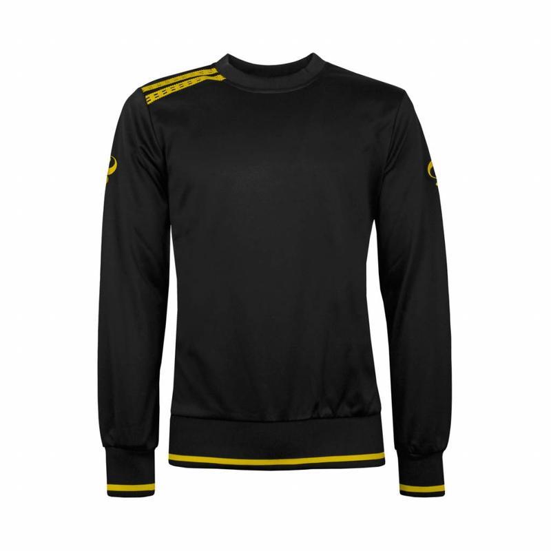 Q1905 Kids Sweater Kruys Zwart / Geel