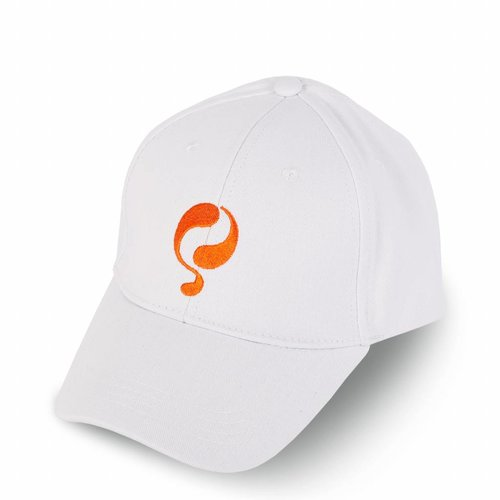 Q Cap White / Orange