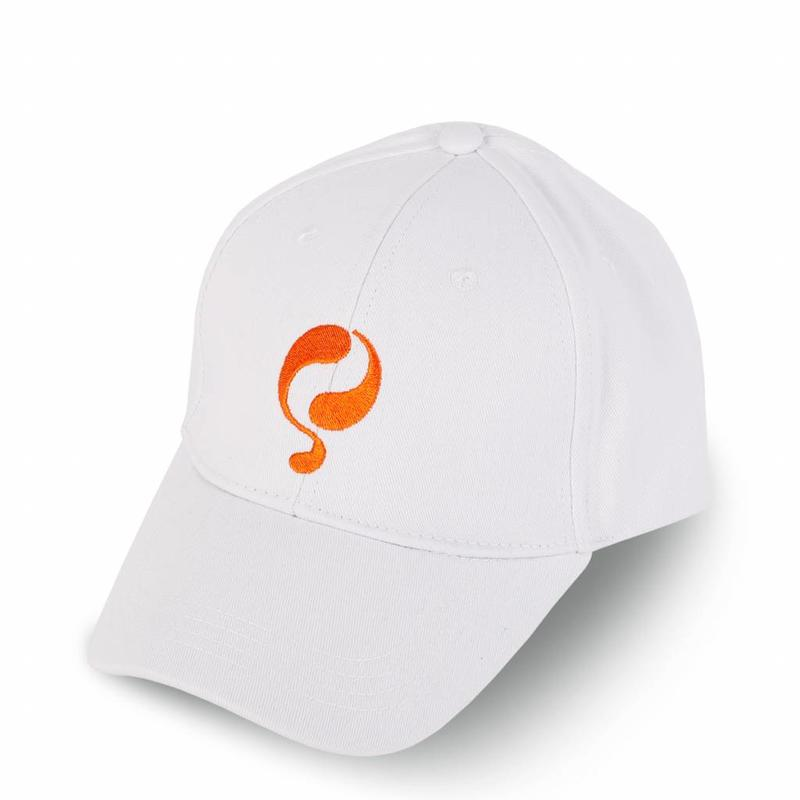 Q Cap White / Orange
