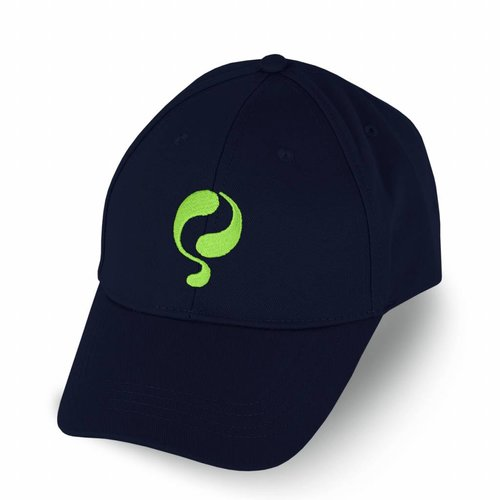 Q Cap Deep Navy / Neon Green