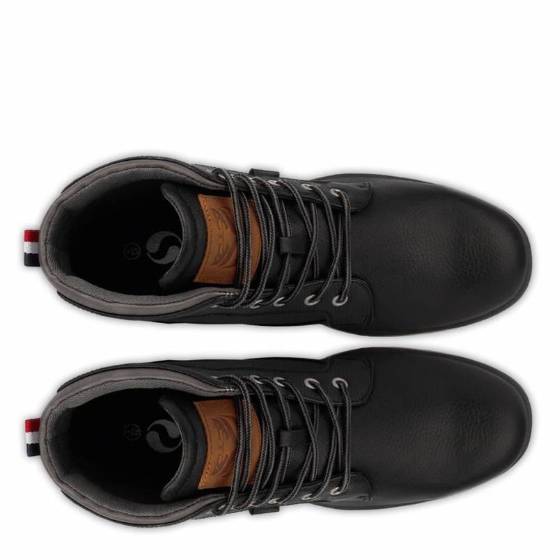 Q1905 Heren Schoen Bronson Black / Dk Grey