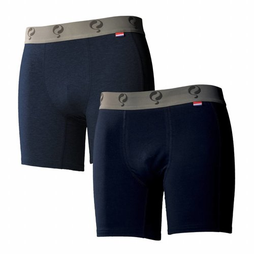 Men boxer 2-pack  -  jeans / navy
