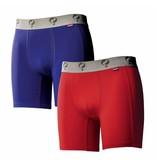 Heren Boxer 2-Pack  -  Blue / Red