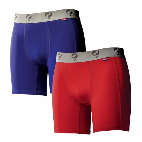 Men boxer 2-pack  -  blue / red