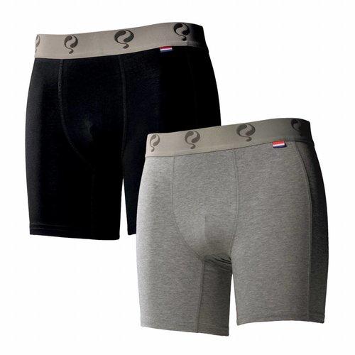 Men boxer 2-pack  -  black / grey
