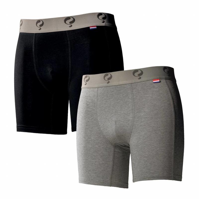 Q1905 Heren Boxer 2-Pack  -  Black / Grey