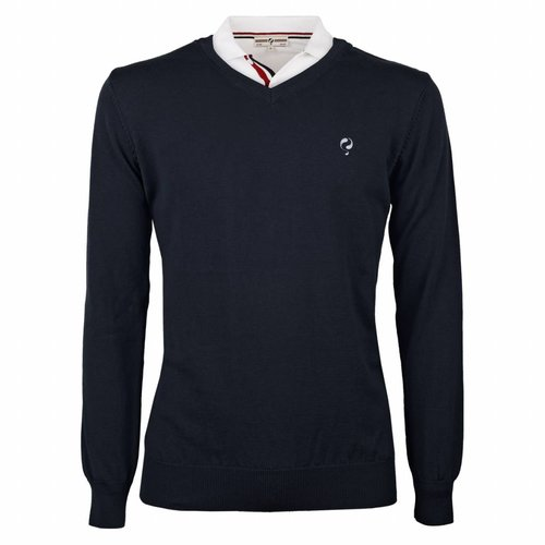 Heren Pullover V-neck Marden Deep Navy