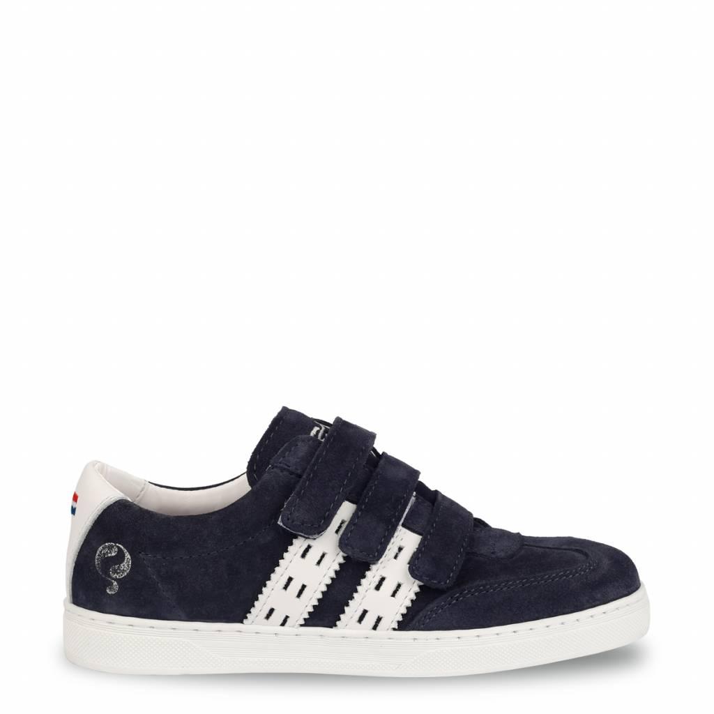 Q1905 Kids Sneaker Legend '69 JR Velcro Deep Navy - White
