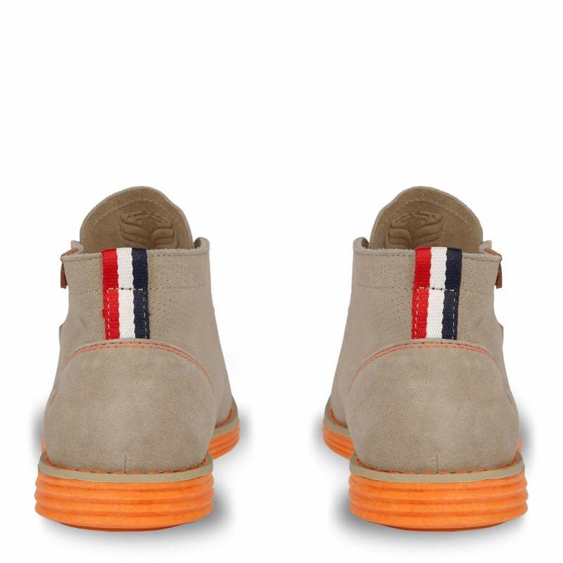 Q1905 Heren Schoen Wassenaar - Taupe/Oranje