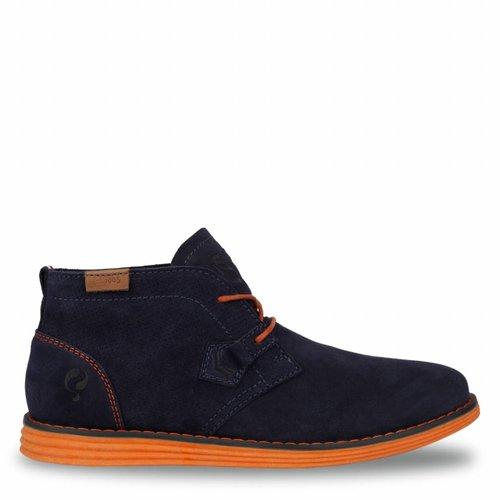 Heren Schoen Wassenaar - Donkerblauw/Oranje