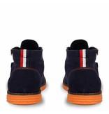 Q1905 Heren Schoen Wassenaar - Donkerblauw/Oranje