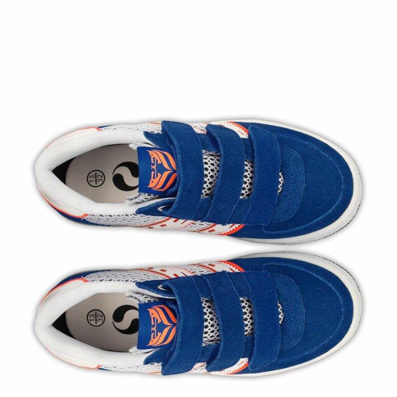 Q1905 Kids Sneaker Maurissen JR Velcro  -  Ice/Skydiver/White ( 36-39 )