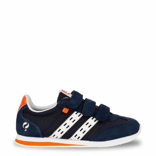 Kids Sneaker Cycloon JR Velcro  -  Denim Blue/White ( 26-35 )