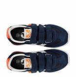 Q1905 Kids Sneaker Cycloon JR Velcro  -  Denim Blue/White ( 26-35 )