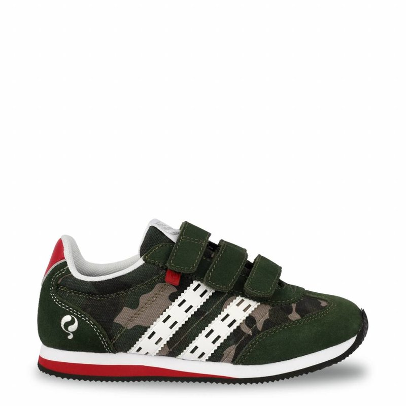 Q1905 Kids Sneaker Cycloon JR Velcro  -  Green Army/White ( 36-39 )