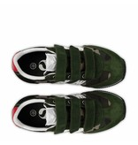 Q1905 Kids Sneaker Cycloon JR Velcro  -  Green Army/White ( 26-35 )