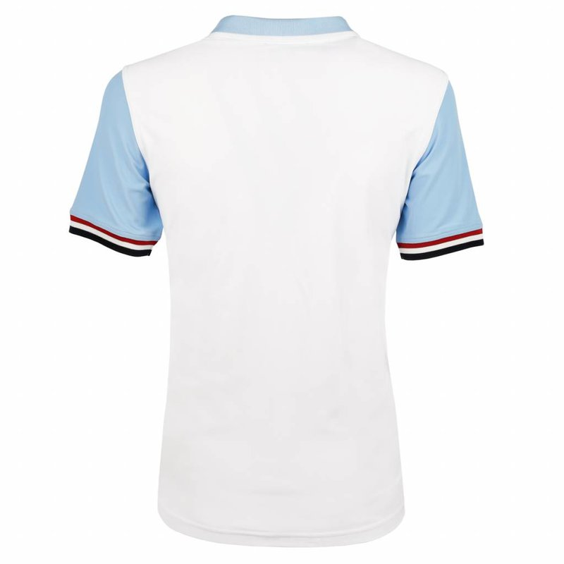 Q1905 Heren Polo JL Swing  -  Wit/Lichtblauw