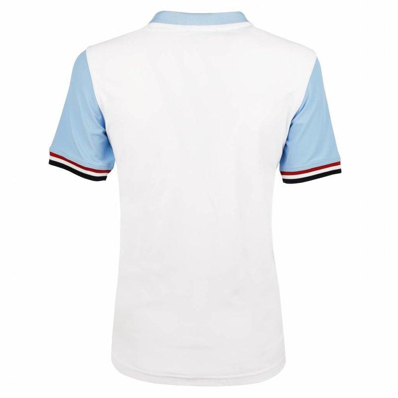 Q1905 Men's Polo JL Swing  -  White/Light Blue