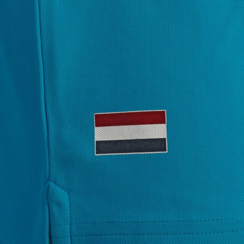 Q1905 Heren Polo Joost Luiten  -  Donker Turquoise