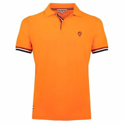 Heren Polo Joost Luiten  -  Zacht Fluor Oranje
