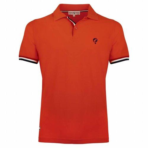 Heren JL Polo  -  Oranje Rood