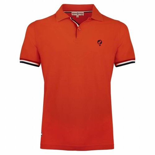Men's Polo Joost Luiten  -  Orange Red