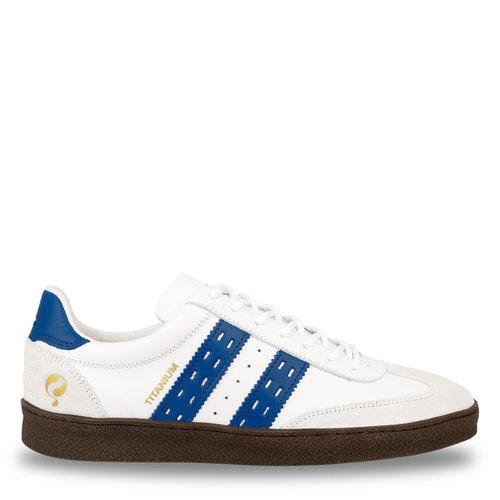 Heren Sneaker Titanium  -  Wit/Hard Blauw