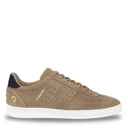 Heren Sneaker Titanium  -  Taupe/Donkerblauw