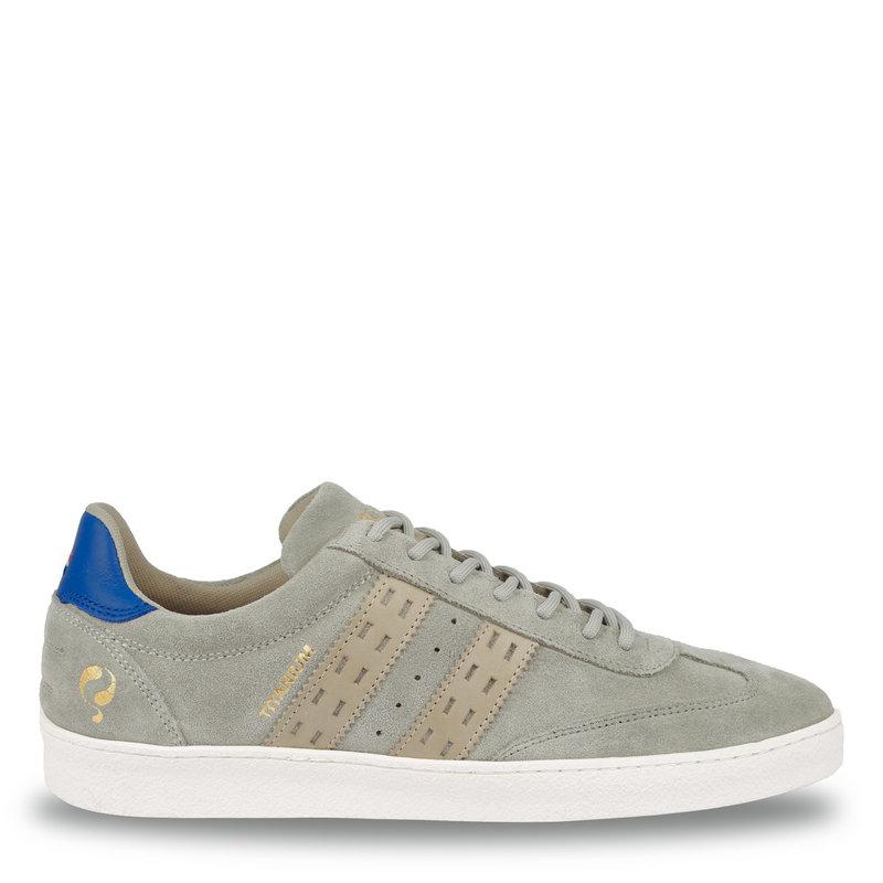 Q1905 Heren Sneaker Titanium  -  Lichtgrijs/Hard Blauw