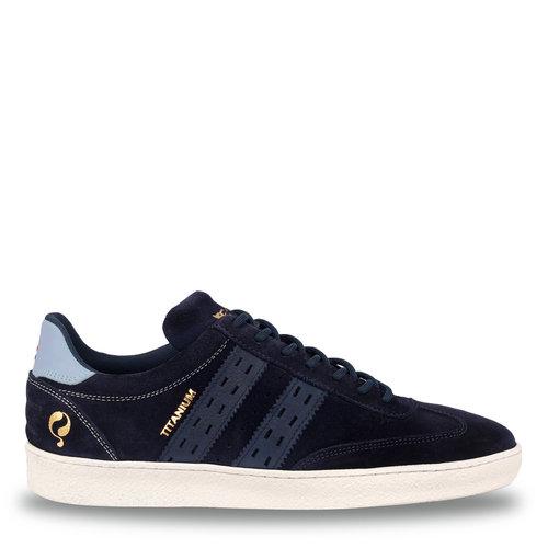 Heren Sneaker Titanium  -  Donkerblauw/Lichtblauw
