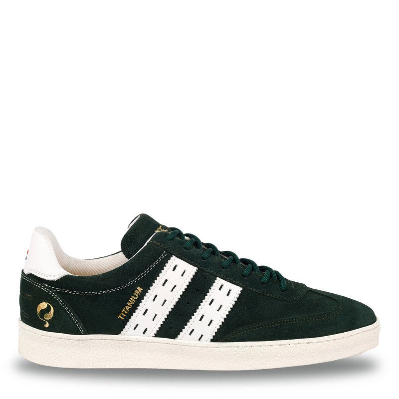 Q1905 Heren Sneaker Titanium  -  Donkergroen/Wit